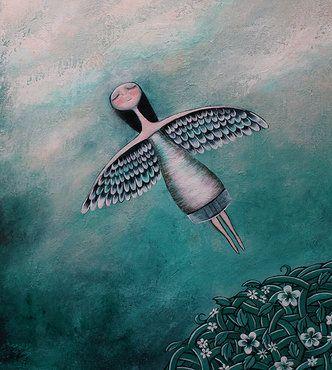 Meisje Met Vleugels Als Armen Over Wiens Innerlijke Rust Niet Te Onderhandelen Valt