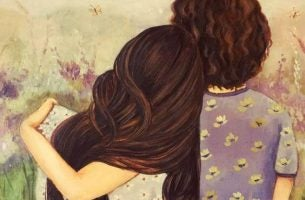 Moeder Die Haar Dochter Knuffelt