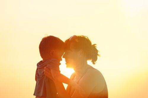 Gelukkige Moeder En Zoon