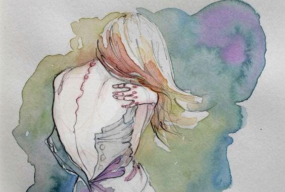 Meisje Moet Zichzelf Omhelzen Want Ze Is Tevreden Met Kruimels