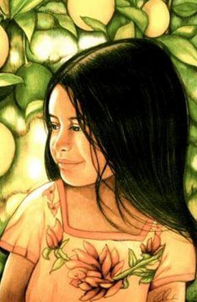 Schattig Meisje Dat Voor Een Boom Zit En Doet Denken Aan De Zorgenpoppetjes Van Guatemala