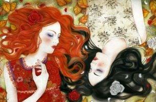 Twee Meiden Die Energie Uitstralen Als Voorbeeld Van Hoe De Energie Van Anderen Ons Kan Beïnvloeden