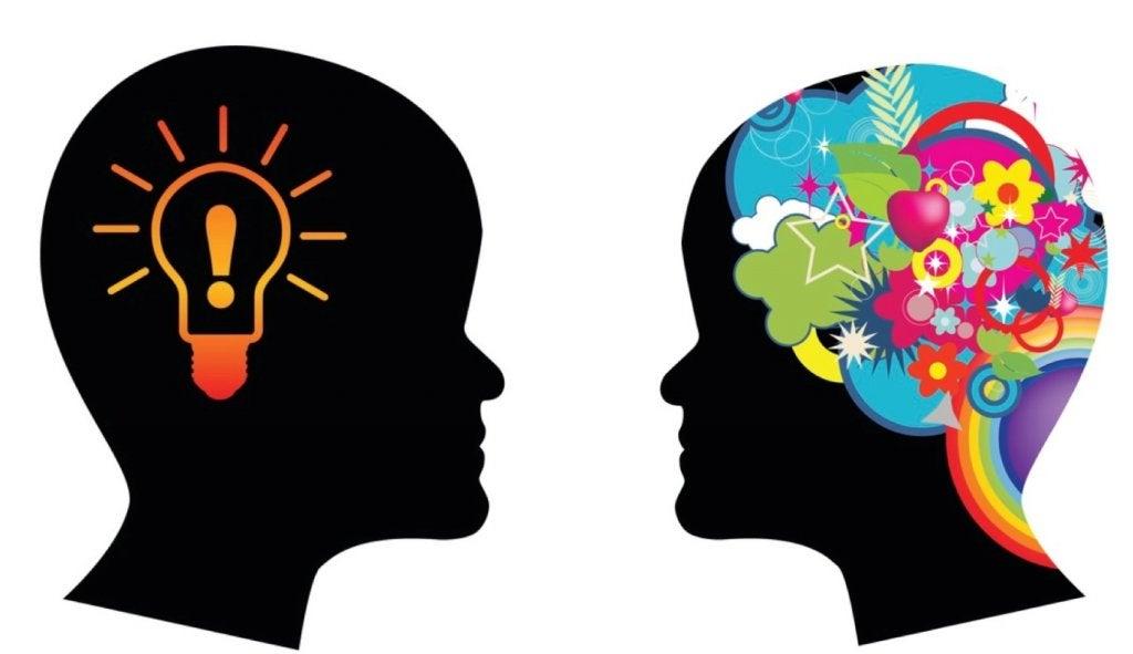 Twee Mensen Met Verschillende Ideeen In hun Hoofd Die Elkaar Begrijpen Door Middel Van Culturele Intelligentie