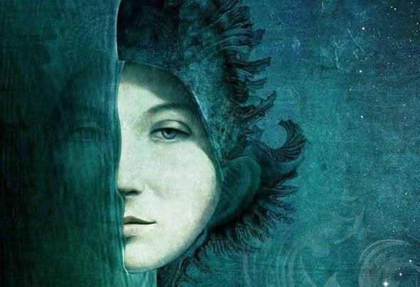 Het Halve Gezicht Van Een Vrouw Die Geen Mensen In Haar Leven Had Die Tegen Haar Zeiden Wij Houden Van Je Om Wie Je Bent