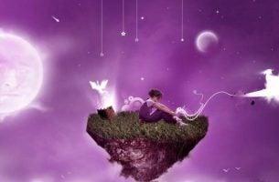 Een Zwevend Eiland In Een Paars Universum Want Dromen Kunnen Uitkomen