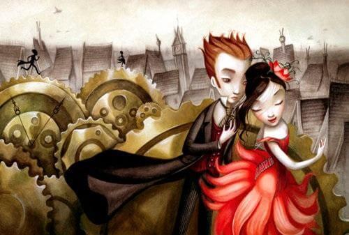 Een prins en een prinses in een gure wereld