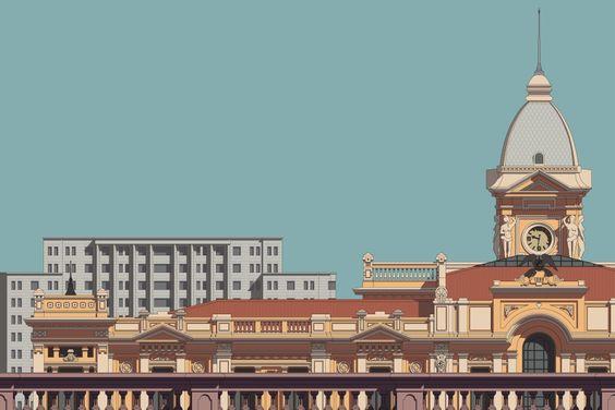 Grote stad die helemaal is volgebouwd als symbool voor te veel emotionele bagage