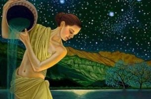 Vrouw die haar water uit haar bokaal laat stromen want de kunst van het loslaten houdt in dat je weet dat de belangrijke dingen terugkeren