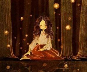 Meisje Zit In Het Bos