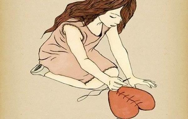 Meisje Naait Haar Gebroken Hart Weer Aan Elkaar Om De Liefde Een Tweede Kans Te Geven