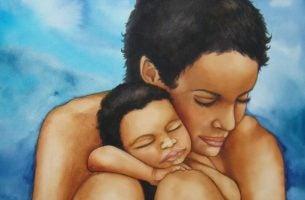 Moeder En Baby Als Symbool Voor De Liefde Tussen Ouder En Kind En De Ondraaglijkheid Van Het Verlies Van Een Kind