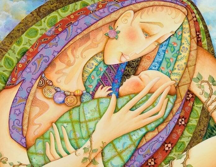 Moeder En Kind Als Voorbeeld Van Dingen Die Ons Laten Groeien Als Mens