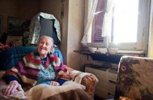 Oude Vrouw Die Een Zeer Lang Leven Heeft Geleid