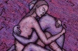 Twee zielen die elkaar omhelzen als voorbeeld van ware intimiteit