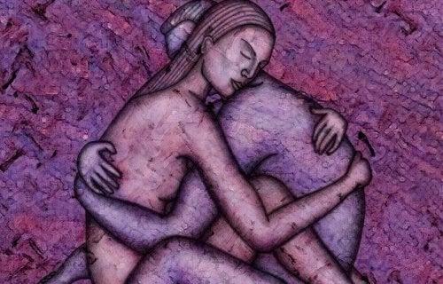 Man en een vrouw die elkaar omhelzen als voorbeeld van oprechte liefde