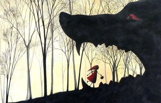 Roodkapje die recht in de bek van de boze wolf loopt misschien moet ze van perspectief veranderen