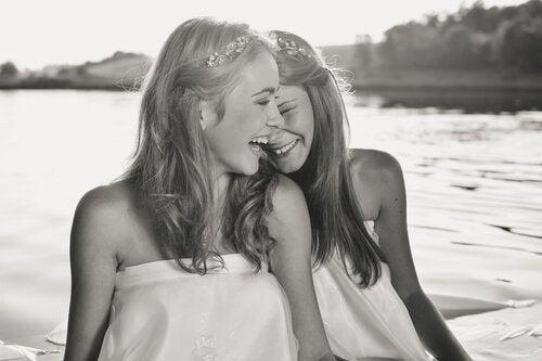 Het leven is goed voor degenen die weten hoe ze moeten lachen