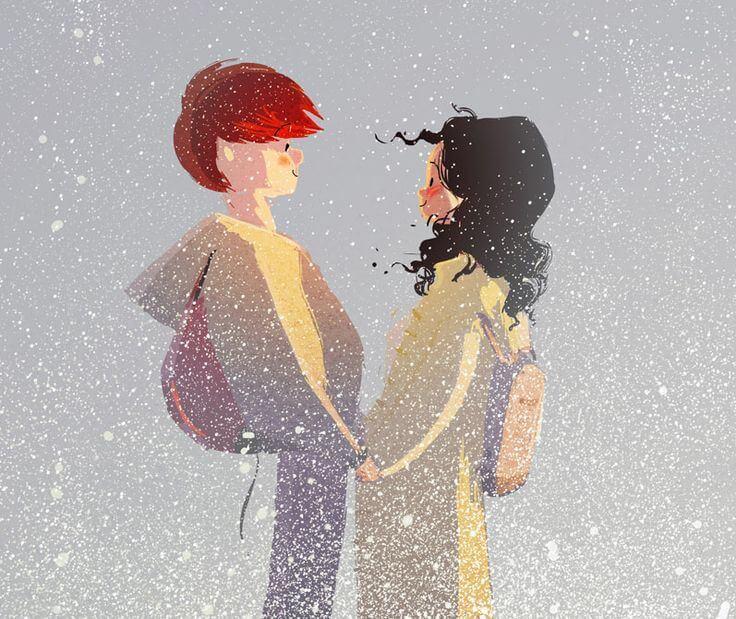 Stel Geniet Van De Sneeuw Want Het Leven Is Mooi