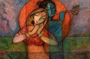 Twee Vrouwen Waarvan Er Een Een Fluit Bespeelt Omdat Ze Beiden Innerlijke Rust Ervaren Want Ze Hebben De Juiste Keuze Gemaakt