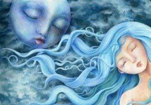 Een Vrouw In Maanlicht Die Weet Dat In Jezelf Geloven Belangrijk Is