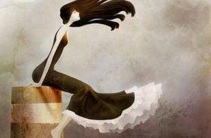 Vrouw Die Aan Het Uitwaaien Is, Haar Gedachten Op Een Rijtje Zet, Zoals We Soms Doen Wanneer We Iemand Missen