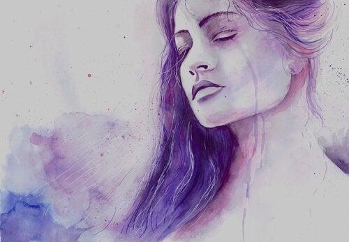 Vrouw Die Een Traan Laat, Wat Een Menselijke Reactie Is Wanneer We Iemand Missen