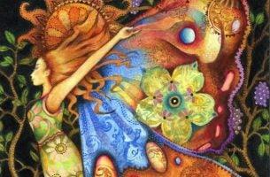 Vrouw Met Vleugels Die Weet Hoe Belangrijk Het Is Om Te Groeien Als Mens