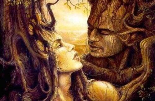 Twee bomen komen tot leven als de slapende liefde tussen hen ontwaakt.