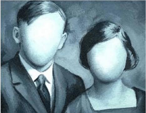 Man en een vrouw die geen gezicht hebben