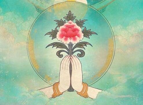 Hindoeïsme de Lotusbloem