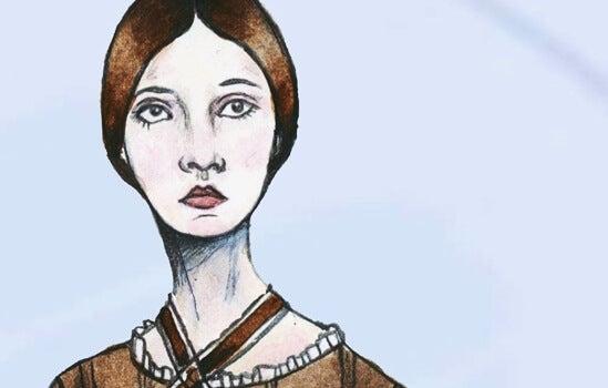 Tekening van Emily Dickinson