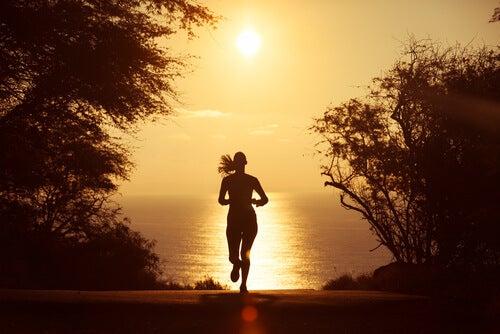 Hardlopen bij zonsondergang