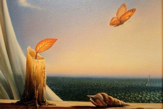 Surrealistische scene; we moeten leren om het onverwachte te omarmen