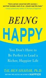 Kaft van een boek over het vinden van geluk
