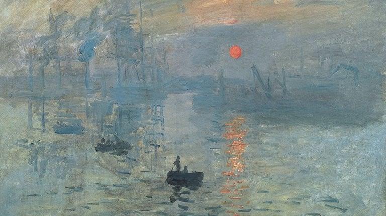 Schilderij van Monet waarin niet veel oog voor detail te zien is