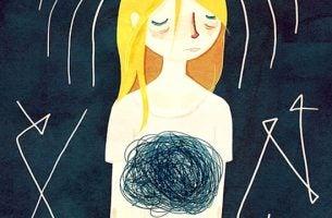 Meisje dat last heeft van de gevolgen van angst