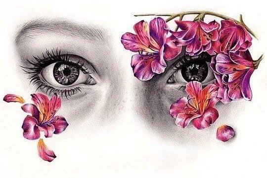 De ogen van een vrouw die zegt: Probeer me niet te veranderen