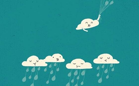 Omring jezelf met mensen die het beste in je naar boven halen want anders ervaar je alleen maar regenachtige dagen