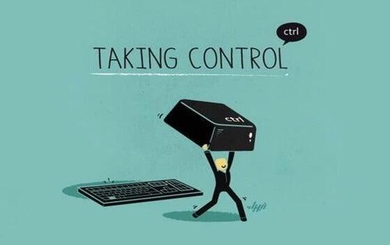 Poppetje die de controle over zijn leven neemt want jezelf nodig hebben is meer dan normaal