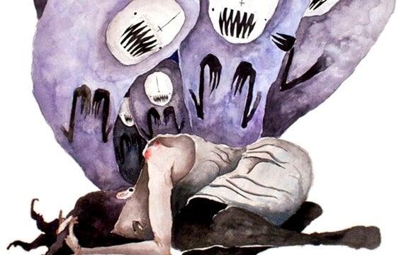 Vrouw die geplaagd wordt door demonen want jezelf nodig hebben wordt vaak gezien als egoïsme