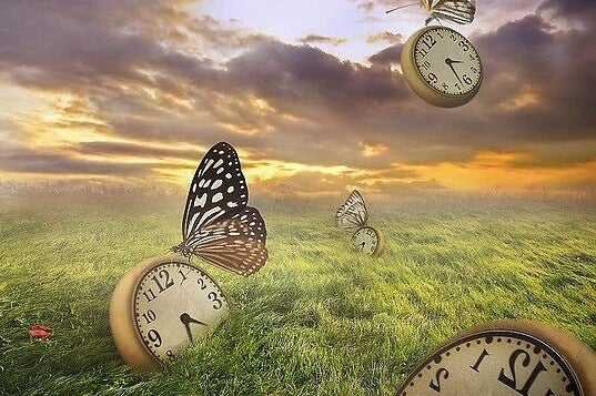 Vlinders die klokken tillen