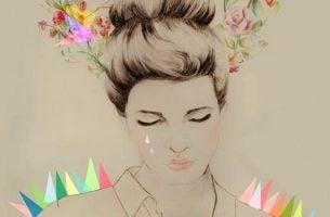 Vrouw die verdriet heeft om een onmogelijke liefde