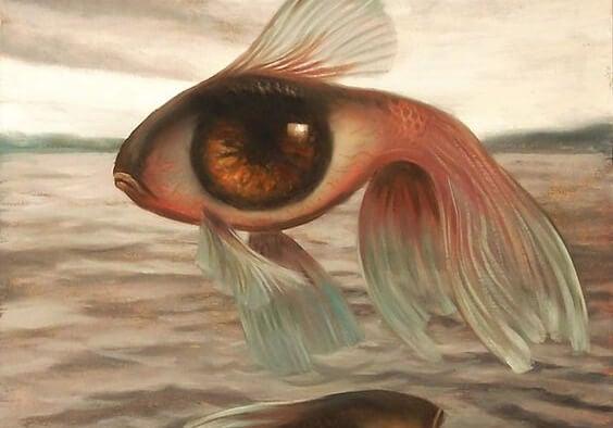 Vis wiens lichaam een oog is