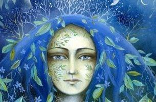 Vrouw in de natuur die weet wat waardigheid is