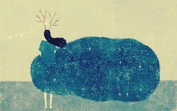 Vrouw die geniet van alleen zijn en zegt: Ik heb mezelf nodig