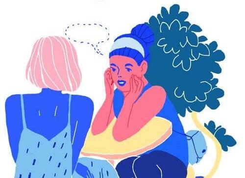 Twee vrouwen die goed kunnen omgaan met complimenten