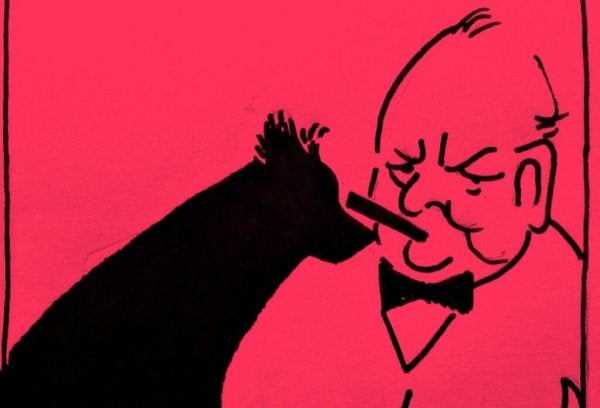 Winston Churchill en zijn zwarte hond van depressie