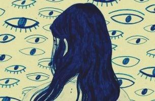 Allemaal ogen op een meisje gericht