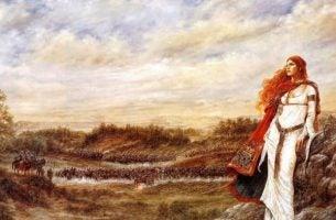Een Keltische princes die nadenkt over leven en liefde