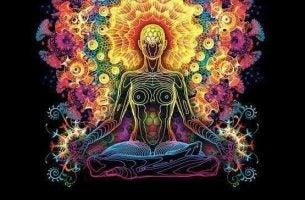 De aura van een vrouw die verbonden is aan haar nervus vagus